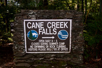 Cane Creek Falls Stone Sign DSC_4039